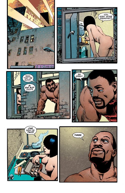 Luke Cage Eats Three Eggs